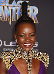 HOLLYWOOD, CA - JANUARY 29: Actor Lupita Nyong'o attends the premiere of Disney and Marvel's 'Black Panther' at  the Dolby Theater on January 28, 2018 in Hollywood, California.
