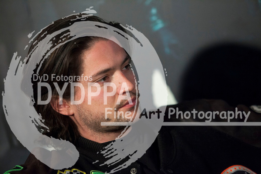 """The actors Thomas McDonell attends the fan event of the tv shows ARROW and THE 100, at the """"ATRESMEDIA CAFE""""   in Madrid, Spain. Jun 9, 2014. Photo by Nacho lopez/ DyD Fotografos-DYDPPA"""