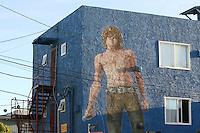 Jim Morrison - Wall painting in Venice Beach