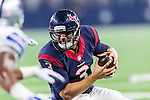 Houston Texans quarterback Tom Savage (3) in action during the pre-season game between the Houston Texans and the Dallas Cowboys at the AT & T stadium in Arlington, Texas.