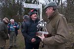 Kiplingcotes Derby, East Riding Yorkshire 2018. Cancelled due to weather and very bad conditions of the course. Two riders walked the course  to keep the tradition going.