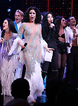 Stephanie J. Block and Cher with cast during the Broadway Opening Night Curtain Call of 'The Cher Show'  at Neil Simon Theatre on December 3, 2018 in New York City.