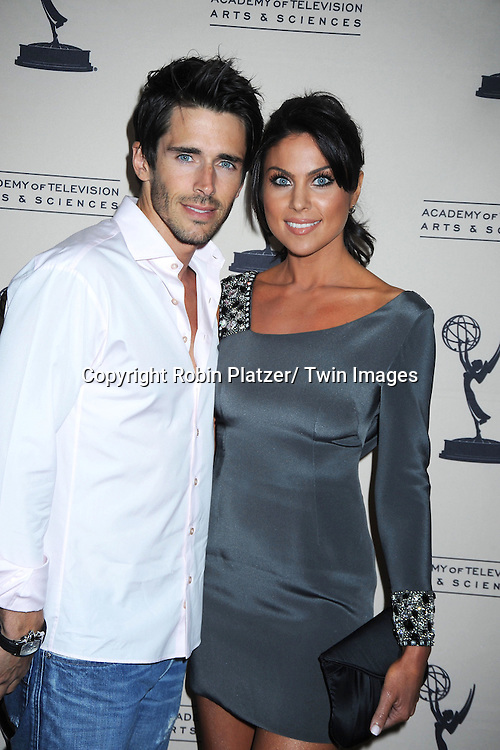 Brandon Beemer and Nadia Bjorlin attending the Television Academy's Daytime Programming Peer Group presents a cocktail reception in honor of the 2011 Daytime Emmy Awards Nominees on June 16, 2011 .at The SLS Hotel at Beverly Hills in California.