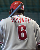 Howard, Ryan _6495.jpg Philadelphia Phillies at Houston Astros. Major League Baseball. September 7th, 2009 at Minute Maid Park in Houston, Texas. Photo by Andrew Woolley.