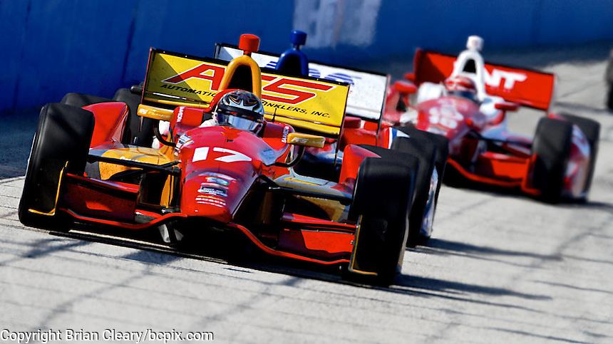 Sebastian Saavedra, Milwaukee Indy Fest 250, Milwaukee Mile Speedway, Milwaukee, WI, August 2014.  (Photo by Brian Cleary/www.bcpix.com)