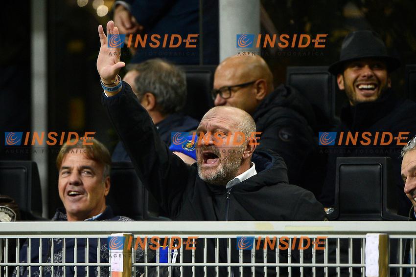 Andrea Baccan in arte Andrea Pucci tifoso Inter<br /> Milano 20-10-2016 Stadio Giuseppe Meazza - Football Calcio Europa League Inter - Southampton. Foto Giuseppe Celeste / Insidefoto