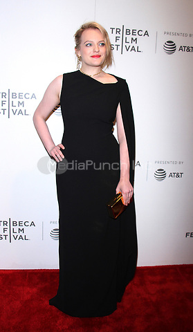 NEW YORK, NY April 21, 2017 Elisabeth Moss  attend 2017 Tribeca Film Festival premiere of The Handmaid's Tale  at BMCC Tribeca PAC in New York April 21,  2017. Credit:RW/MediaPunch