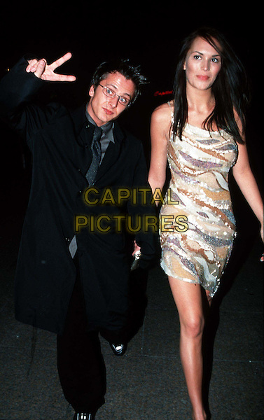 "LUCY CLARKSON & RITCHIE NEVILLE..""Miss Congeniality"" Film Premiere  ..Ref: 10732..same dress worn by lisa butcher and beverley turner, stripes, peace sign, fingers..www.capitalpictures.com..sales@capitalpictures.com..©Capital Pictures..full length, full-length"
