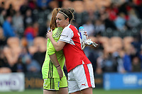 Jodie Taylor of Arsenal Ladies and Sophie Baggaley of Birmingham City Ladies after Arsenal Ladies vs Birmingham City Ladies, FA Women's Super League FA WSL1 Football at the Hive Stadium on 20th May 2017