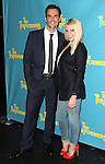 """Actor Cheyenne Jackson and actress Ari Graynor attends press event to introduce the cast and creators of the new Broadway play """"The Performers""""at the Hard Rock Cafe on Tuesday, Sept. 25, 2012 in New York. (Photo by © Walter McBride/WM Photography//AP)"""