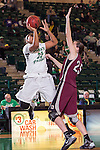 Arkansas Little Rock Trojans forward Hannah Fohne (25) in action during the game between the Arkansas Little Rock Trojans and the North Texas Mean Green at the Super Pit arena in Denton, Texas. UALR defeats UNT 52 to 48...