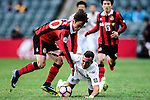 Auckland City Midfielder Clayton Lewis (r) fights for the ball with FC Seoul Midfielder Kim Hangil (l) during the 2017 Lunar New Year Cup match between Auckland City FC (NZL) vs FC Seoul (KOR) on January 28, 2017 in Hong Kong, Hong Kong. Photo by Marcio Rodrigo Machado/Power Sport Images