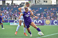 Orlando, FL - Saturday Sept. 24, 2016: Camille Levin, Katie Bowen during a regular season National Women's Soccer League (NWSL) match between the Orlando Pride and FC Kansas City at Camping World Stadium.