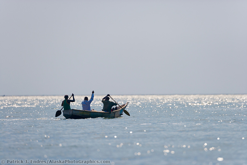 Fisherman, Kazinga Channel, Uganda, East Africa