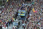2011 Rua per els carrers de Barcelona i festa de celebracio del campionat de Liga al Camp Nou
