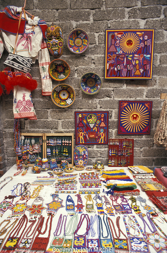 Huichol Indian handicrafts for sale in Mexico