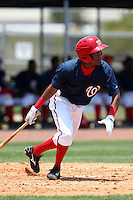 GCL Nationals Francisco Soriano #1 during a game against the GCL Mets at the Washington Nationals Minor League Complex on June 20, 2011 in Melbourne, Florida.  The Nationals defeated the Mets 5-3.  (Mike Janes/Four Seam Images)