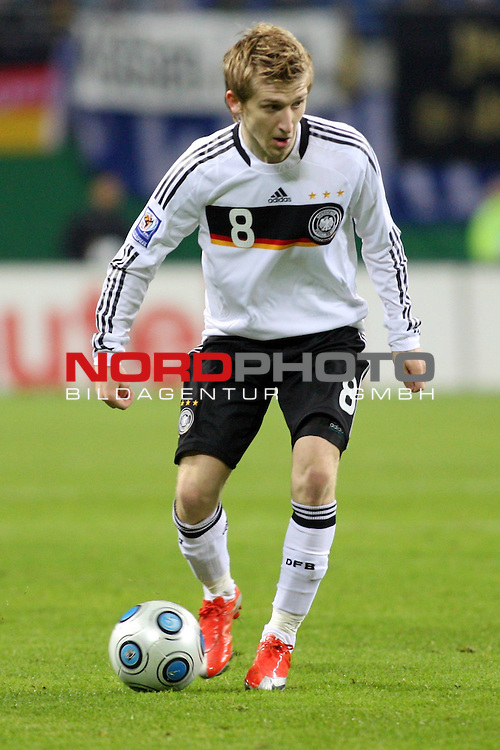 L&permil;nderspiel<br /> WM 2010 Qualifikatonsspiel Qualificationmatch Leipzig 28.03.2009 Zentralstadion Gruppe 4 Group Four <br /> <br /> Deutschland ( GER ) - Liechtenstein ( LIS ) 4:0 (2:0)<br /> <br /> Marko Marin (#8 M&cedil;nchen Gladbach Deutsche Nationalmannschaft).<br /> <br /> Foto &copy; nph (  nordphoto  )<br />  *** Local Caption ***