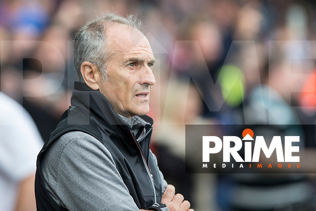 Swansea manager Francesco Guidolin during the EPL - Premier League match between Swansea City and Manchester City at the Liberty Stadium, Swansea, Wales on 24 September 2016. Photo by Mark  Hawkins.