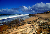Rugged Mo'omomi Dunes, a Nature Conservancy sponsored hike on Molokai.
