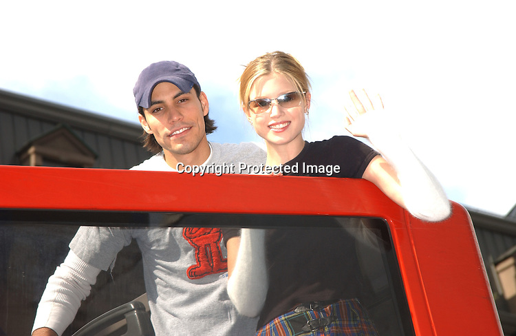 Klosky and Gatschet                               ..at the Gus Bus Tour on Octoober 11,2003 on the New York sightseeing tour Bus for Ricky Paulls fans...Photo by Robin Platzer, Twin Images