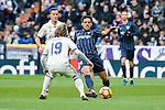 "Real Madrid's Luka Modric and Malaga CF's Jose Luis ""Recio"" Garcia during La Liga match between Real Madrid and Malaga CF at Santiago Bernabeu Stadium in Madrid, Spain. January 21, 2017. (ALTERPHOTOS/BorjaB.Hojas)"