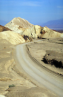 20 Mule Team Canyon Road in Death Valley National Monument, California. Desert, Dry, Desolate, Lonely. California USA Death Valley.