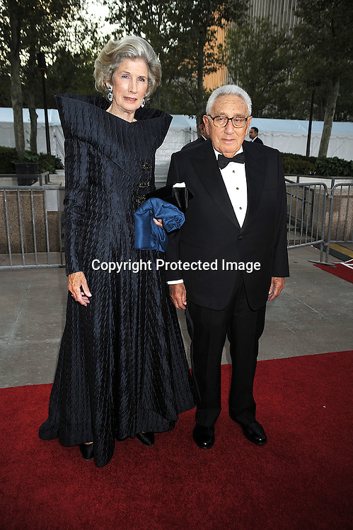 Dr Henry Kissinger and wife Nancy.arriving at The opening night of the Metropolitan Opera  on September 22, 2008 at The Metropolitan Opera House in New York City. ..Robin Platzer, Twin Images