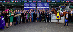November 3, 2018: Connections to Accelerate #14, ridden by Joel Rosario, winner of the Breeders' Cup Classic, celebrate in the winner's circle on Breeders' Cup World Championship Saturday at Churchill Downs on November 3, 2018 in Louisville, Kentucky. Bill Denver /Eclipse Sportswire/CSM
