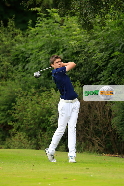 Peter Taylor (Tandragee) on the 7th tee during Round 1 of the Ulster U16 Boys Open at Dungannon Golf Club on Wednesday 12th August 2015.<br /> Picture:  Thos Caffrey / www.golffile.ie