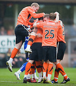:: DUNDEE UTD'S SCOTT SEVERIN CELEBRATES AFTER HE SCORES UNITED'S FIRST :: .23/04/2011   Copyright  Pic : James Stewart.sct_jsp022_dundee_utd_v_kilmarnock .James Stewart Photography 19 Carronlea Drive, Falkirk. FK2 8DN      Vat Reg No. 607 6932 25.Telephone      : +44 (0)1324 570291 .Mobile              : +44 (0)7721 416997.E-mail  :  jim@jspa.co.uk.If you require further information then contact Jim Stewart on any of the numbers above.........