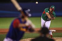 Luis Mendoza pitcher inicial por Mexico hace lanzamientos en el primer inning , durante el partido Mexico vs Venezuela, World Baseball Classic en estadio Charros de Jalisco en Guadalajara, Mexico. Marzo 12, 2017. (Photo: AP/Luis Gutierrez)