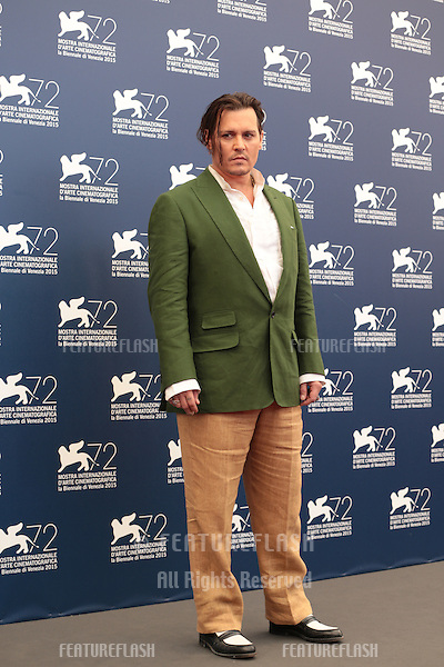 Johnny Depp at the photocall for Black Mass at the 2015 Venice Film Festival.<br /> September 4, 2015  Venice, Italy<br /> Picture: Kristina Afanasyeva / Featureflash