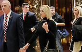 Florida Attorney General Pam Bondi walks through the lobby of Trump Tower following a meeting with President-elect Donald Trump in New York, New York, USA, 02 December 2016.<br /> Credit: Justin Lane / Pool via CNP