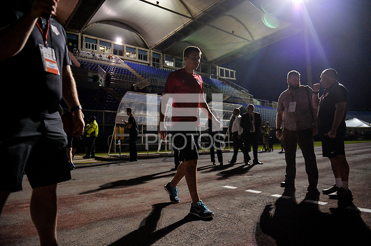 Couva, Trinidad & Tobago - Tuesday Oct. 10, 2017: Matt Besler during a 2018 FIFA World Cup Qualifier between the men's national teams of the United States (USA) and Trinidad & Tobago (TRI) at Ato Boldon Stadium.