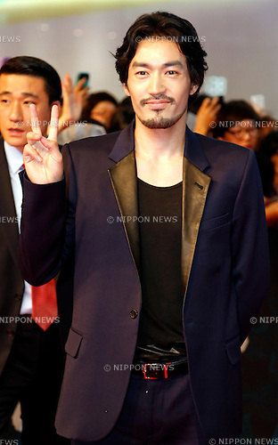 Ryohei Otani, Jul 21, 2014 : Japanese actor Otani Ryohei attends a red carpet event before a VIP preview of a new South Korean movie, Roaring Currents, in Seoul, South Korea. (Photo by Lee Jae-Won/AFLO) (SOUTH KOREA)