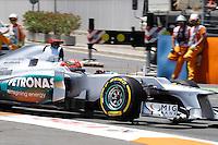 23.06.2012. Valencia, Spain. FIA Formula One World Championship 2012 Grand Prix of Europe Qualifying Session. Michael Schumacher (German driver of Mercedes GP).