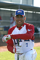 Joaquin De La Cruz - Dominican Prospect League all-stars 2012 minor league spring training (Bill Mitchell)