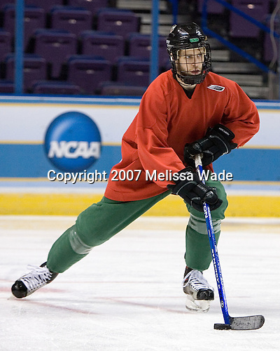 Matt Watkins (University of North Dakota - Aylesbury, SK) - The University of North Dakota Fighting Sioux take part in morning skate on Thursday, April 5, 2007, at the Scottrade Center in St. Louis, Missouri.