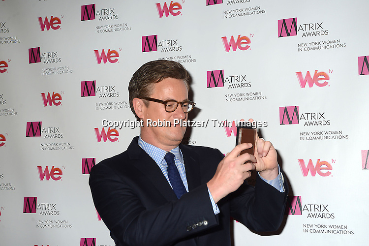 Joe Scarborough attend the 2013 Matrix Awards on April 22, 2013 at the Waldorf Astoria Hotel in New York City. The New York Women in Communications presented the awards.