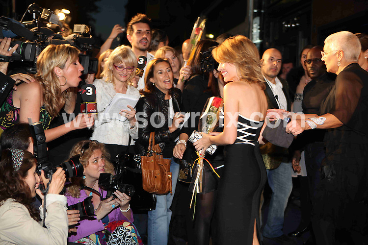 **ALL ROUND PICTURES FROM SOLARPIX.COM**.**WORLDWIDE SYNDICATION RIGHTS**NO PUBLICATION IN SPAIN**.Kylie Minogue at the opening of the new Tous jewelry store in Barcelona, Spain. 23 April 2009.This pic: Kylie Minogue..JOB REF: 8887 MER       DATE: 23_04_2009.**MUST CREDIT SOLARPIX.COM OR DOUBLE FEE WILL BE CHARGED**.**ONLINE USAGE FEE GBP 50.00 PER PICTURE - NOTIFICATION OF USAGE TO PHOTO @ SOLARPIX.COM**.**CALL SOLARPIX : +34 952 811 768 or LOW RATE FROM UK 0844 617 7637**