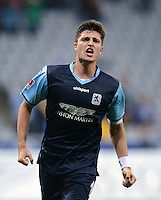 Fussball 2. Bundesliga:  Saison   2012/2013,    4. Spieltag  TSV 1860 Muenchen - MSV Duisburg    31.08.2012 Jubel nach dem Tor zum 3:0 Moritz Stoppelkamp (1860 Muenchen)