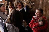Monika  takes her friends to the barn to see the new puppies in the Ladino community of La Valle in northern Italy.  <br /> Monika  Vallazza walks home with her friends after school and they have catechism class.   Then the girls go to the barn to see the new puppies.  Monika's parents have cows and restaurant in the Ladino community..La Valle  (BZ).