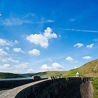 Graig Goch Reservoir dam, Eland Valley, Powys, Wales