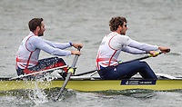 Caversham. Berkshire. UK<br /> Bow Nathanial REILLY-O'DONNELL and `Matt TARRANT.<br /> 2016 GBRowing European Team Announcement,  <br /> <br /> Wednesday  06/04/2016 <br /> <br /> [Mandatory Credit; Peter SPURRIER/Intersport-images]