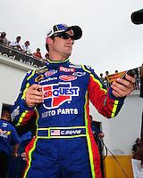 Jul. 4, 2008; Daytona Beach, FL, USA; NASCAR Sprint Cup Series driver Casey Mears during qualifying for the Coke Zero 400 at Daytona International Speedway. Mandatory Credit: Mark J. Rebilas-