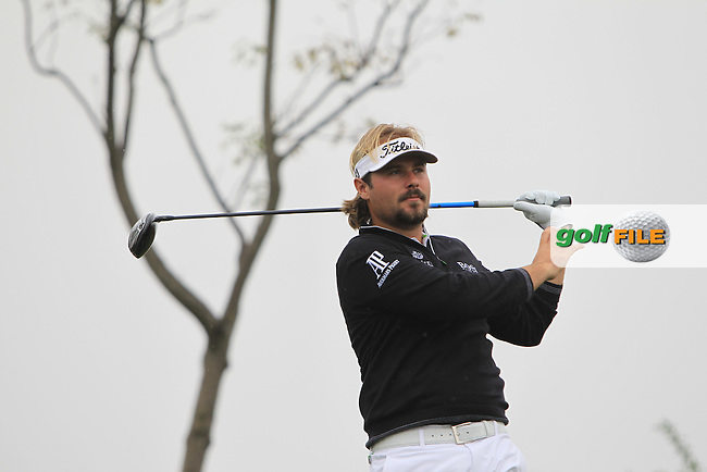 Victor Dubuisson (FRA) on the 5th tee during Round 1 of the BMW Masters at Lake Malaren Golf Club in Boshan, Shanghai, China on Thursday 12/11/15.<br /> Picture: Thos Caffrey | Golffile