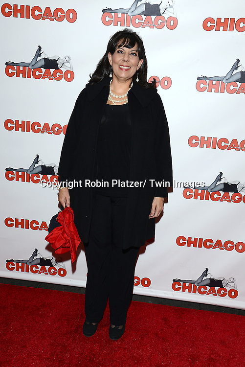 "Christine Pedi attends ""Chicago""  becoming the 2nd Longest Running Show on Broadway at performance 7486 on November 23, 2014 at the Ambassodor Theatre in New York City."