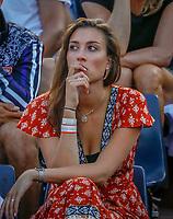 Paris, France, 27 May, 2018, Tennis, French Open, Roland Garros, Kim de Valk, girlfriend of Robin Haase<br /> Photo: Henk Koster/tennisimages.com