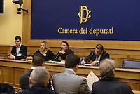 Roma 27 Gennaio 2015.Rom e Sinti lanciano la raccolta firme per la legge di iniziativa popolare per il riconoscimento della minoranza storico-linguistica dei Rom e dei Sinti. <br /> La portavoce e presidente della Campagna Dijana Pavlovic.